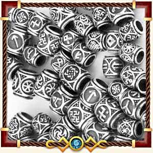 Шармы и бусины с рунами из серебра и золота в Чебоксарах