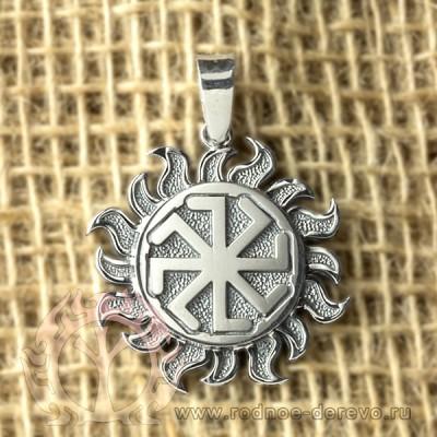 Славянский оберег Колядник из серебра